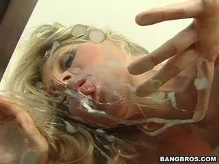 Lusty Milf Julia Ann Enjoys Her Lover's Sauce Spilled Merely For Her