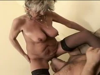 Hot mbah alena sits on pasuryan and takes a big one