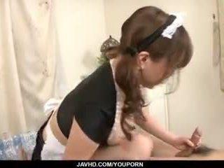Japan stuepike, aoi mizumori, pleases henne mester