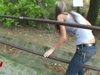 Hardcore outdoor sex after shopping Video