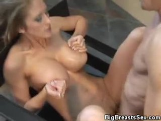 Hot abby rode burungpun, tit fucked and jizzed on