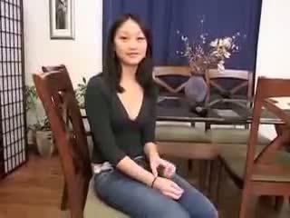 중국의 소녀 evelyn lin 처음으로 시간 항문의