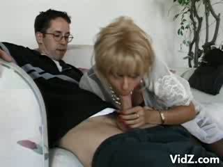 Granny prostitute Zarina gets ass fucked by nerd