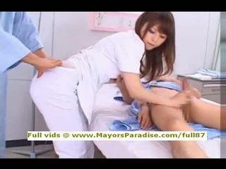 Akiho yoshizawa من idol69 غير مطيع الآسيوية ممرضة likes إلى فعل اللسان