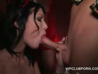 Vianoce sex párty s nadržané sluts banged ťažký