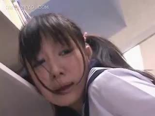 Азиатки ученичка путка teased в на библиотека на camera