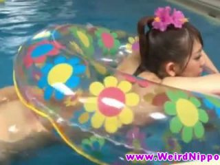 Hot jJapanese babe fucked in swimming pool