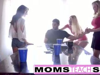 Momsteachsex - Hot Mom & Teen Friends Orgy Fuck With Neighbor Video
