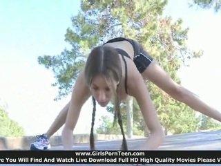sport channel, new flexible, outdoor fuck