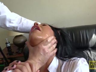 Candi Kayne gets Throat Fucked and gets a Mouth Full of