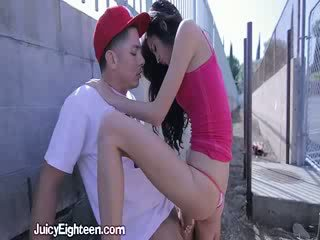 Zoey Kush Blows Him out doors