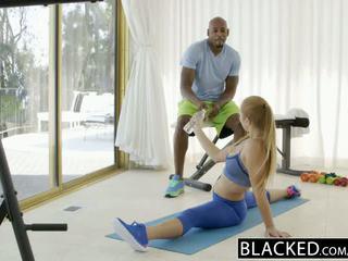 Blacked primeiro inter-racial para caber miúda layna landry