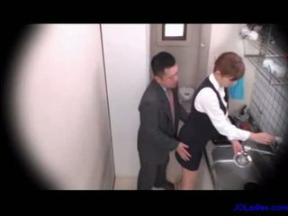 Office lady licked fingered sucking co...