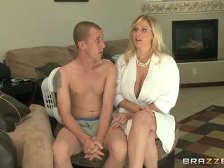 blondīnes, big boobs, blowjob