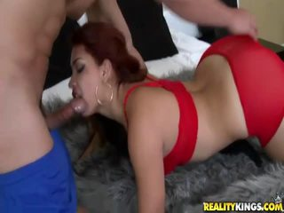 hardcore sex, blowjob, tóc đỏ