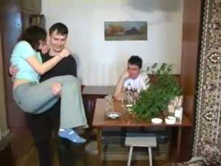 Bisex trio vīrietis vīrietis sieviete