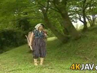 Vintage japans neuken outdoors