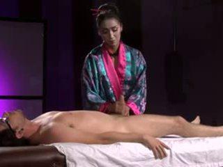 美丽 亚洲人 geisha (full 按摩 同 脚功封口)