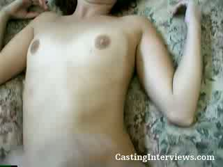 See this Curly Haired doll get her hairy ass fucked during an actual try out.