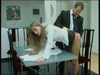 russo, meia-calça, loira