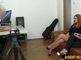 Two superb girls Rosaline and Sarah tricked by fake agent