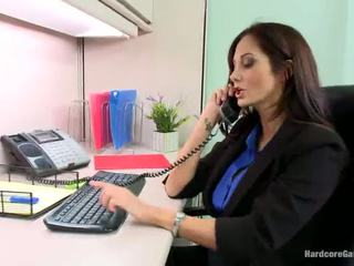 Smut blokes band screw teasing big titted honey ava addams in the ofis