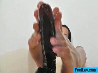 si rambut coklat, fetish kaki, kaki