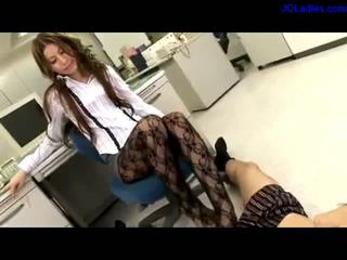secretaries, stockings, asian