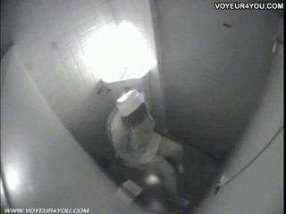 Tualetas masturbation secretly captured iki spycam