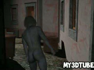3d babe getting geneukt outdoors door een zombie