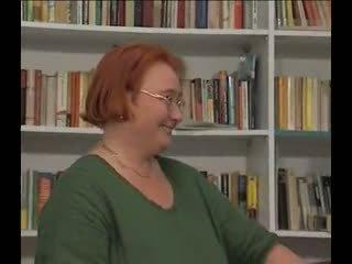 Stora vackra kvinnor bibliotekarie gets laid