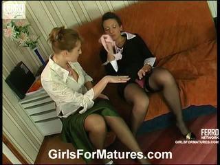 Bridget și sheila milf în lesbie proces