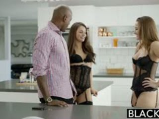 Blacked dani daniels en allie haze interraciaal trio