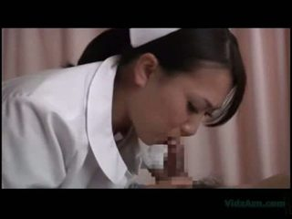 Nurse sucking cock fucked by patient facial on the hospitals
