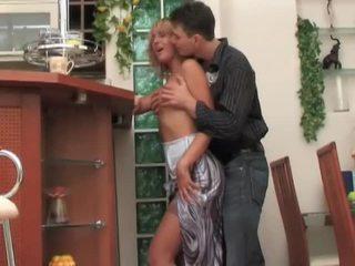 Russian milf whore seduces, fucks and moans
