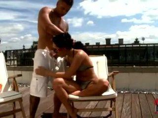 BetTina DiCapri Slathering Flesh Pole Onto Balcony