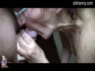 Oud moeder rukken en oraal neuken