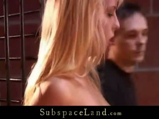 Ruthless Smuty Punishment For A Constrained Bondman Blonde