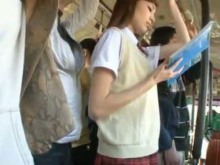 Kaori maeda has тя горещ вагина pie fingered в а публичен автобус