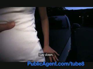PublicAgent Cock sucking short girl with blonde hair