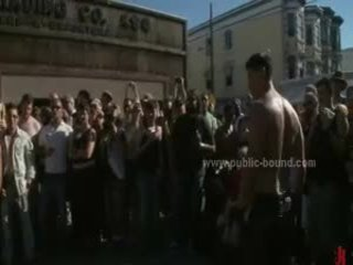 Public Plaza With Stripped Men Prepared For Wild Coarse Violent Gay Group Sex