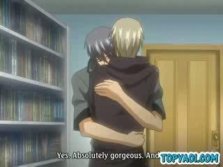 Sexy homo anime guys having een tong kiss makeout moment