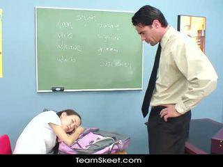 Innocenthigh giáo viên đập gầy á châu thanh thiếu niên chặt chẽ âm hộ