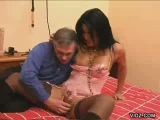 Ladyboy hussy alessandra gets meat devoured
