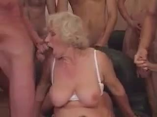 Granny Norma in a Gangbang