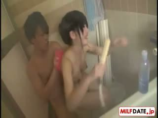 Taking Bath With Big Boobs Japanese Mom