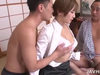 Shaved japanese pussy pounded