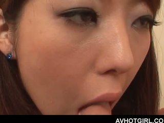 Erotico asiatico scuola bambola giving pompino e getting boo