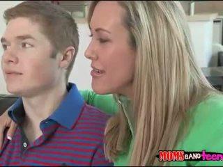 Teen couple fucking with busty stepmom Brandi Love