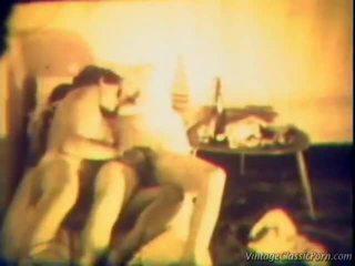 lesbiešu seksu, vintage pliks zēns, vintage porn
